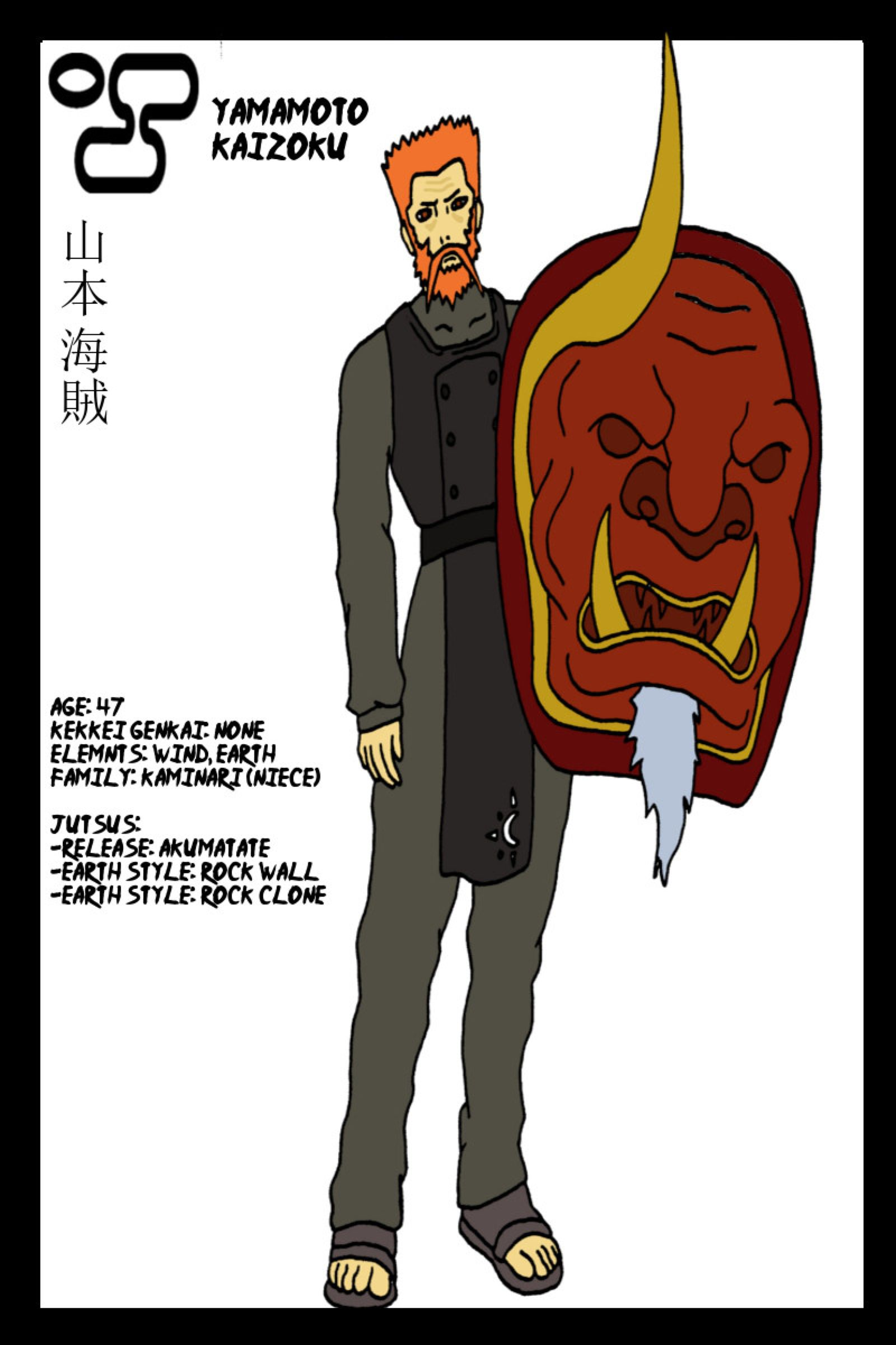 Yamamoto Kaizoku Naruto OC by ImmortalWenz on