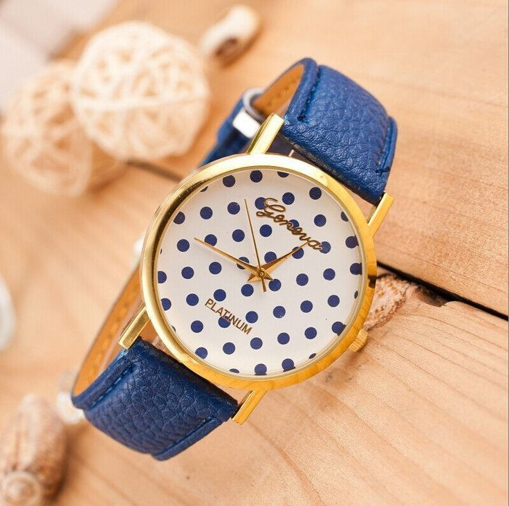 Dots Face Teenage Trendy PU Blue Le | Leather, Blue and Dots