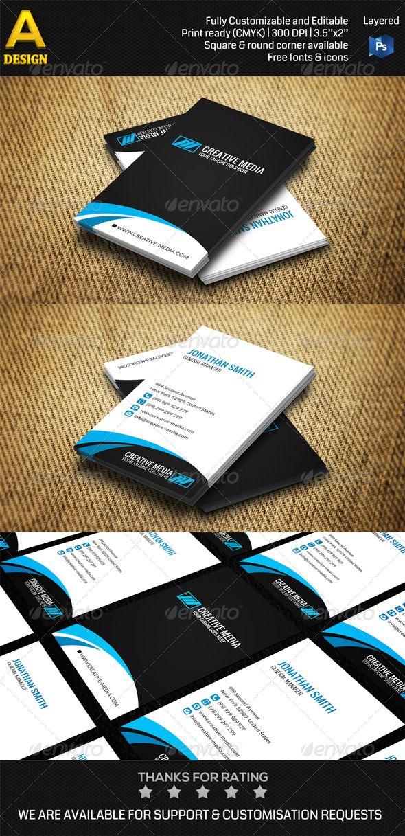 Minimal business card an0322 minimal business card business cards minimal business card an0322 photoshop psd creator dark available here https reheart Gallery