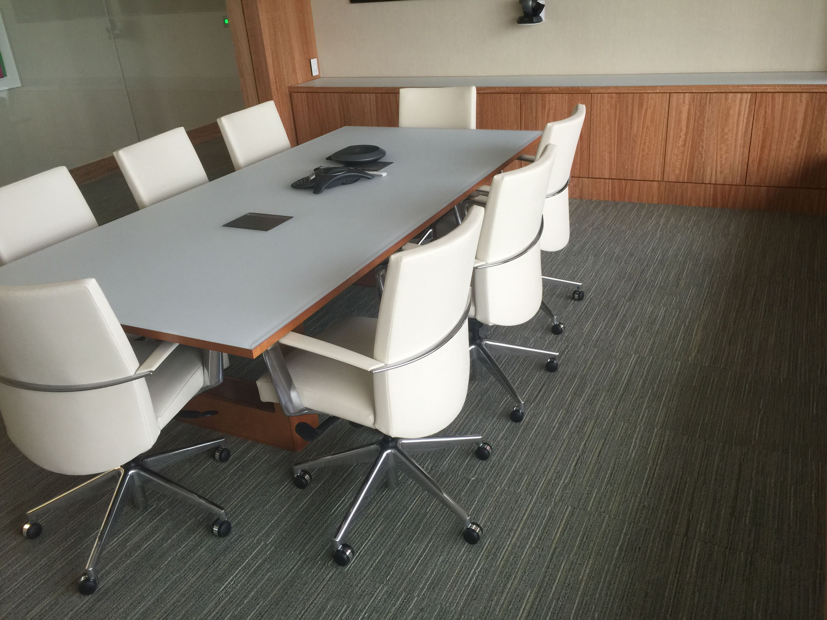 In this corporate office, we installed carpet tile throughout the ...