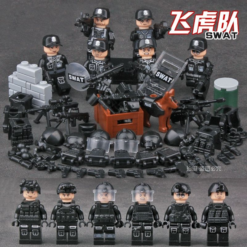 Building Blocks Kids Toys Swat Police Special Forces Military