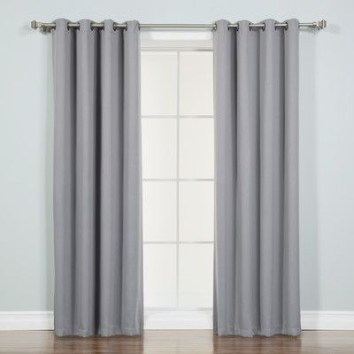 """Best Home Fashion, Inc. Blackout Thermal Single Curtain Panel Size: 52""""W x 63"""" L, Color: Grey"""