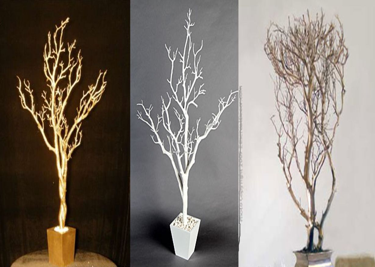 Wedding centerpieces diy decor wedding decor and design decors spraypaint branches add to vases etc and add stones or tea lights reviewsmspy