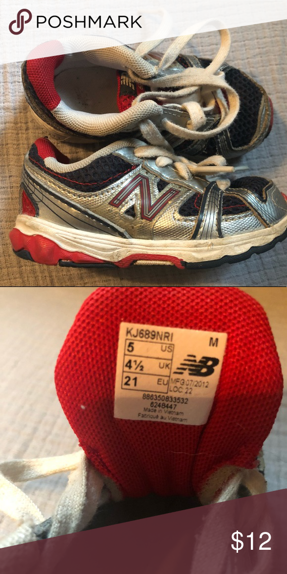 Boys Tennis Shoes Boys New Balance tennis shoes size 5. Used and well loved  but lots of life left. Smoke free d4ec42839