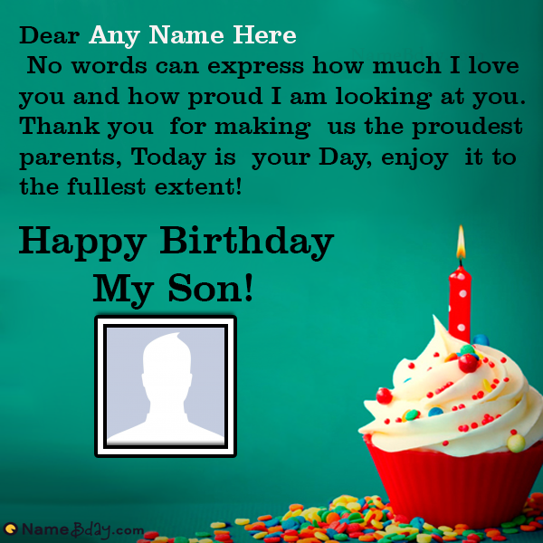 Online Happy Birthday My Son Images With Name Happy Birthday Son