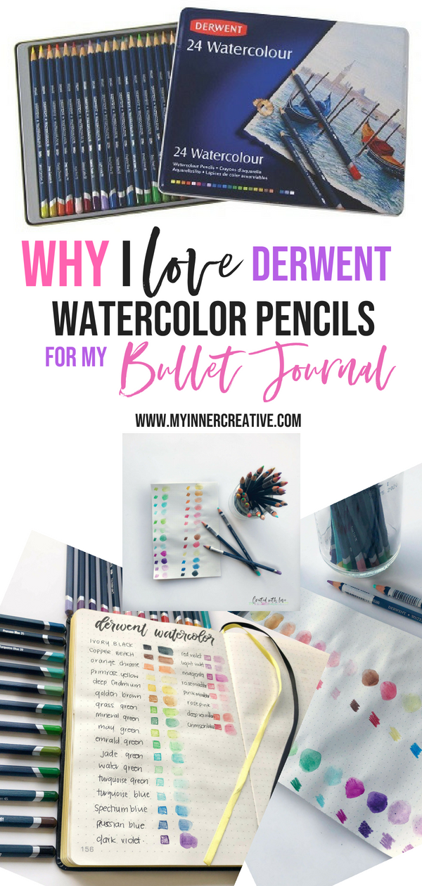 Best Watercolor Pencils To Use In Your Bullet Journal My Inner Creative Best Watercolor Pencils Watercolor Pencils Pencil Journals