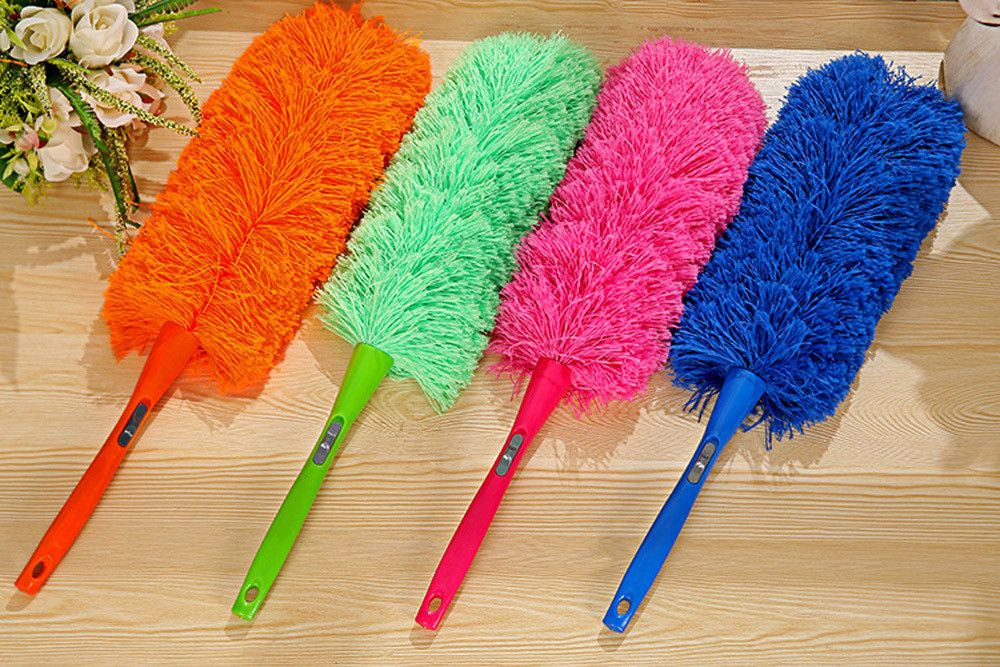 1PIECE Wholesale Long Bamboo Handle Duster Feather Brush Brooms Cleaning Tool