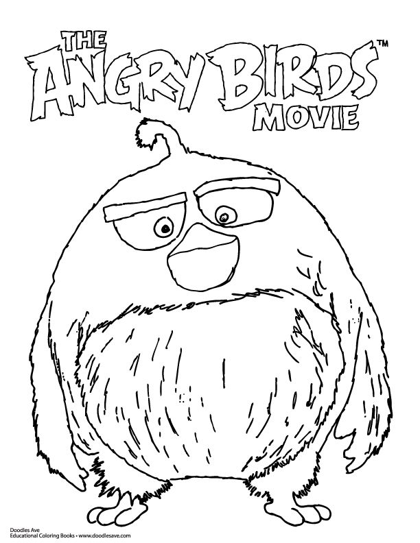 angry birds movie coloring sheet!  angry birds movie