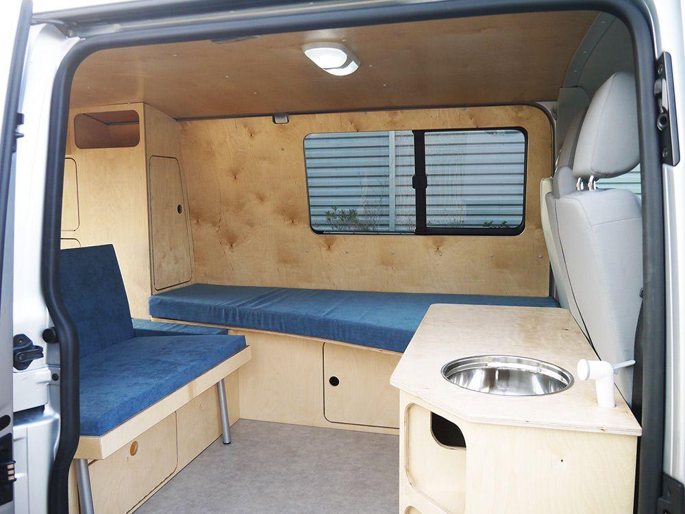 Vw t5 yannick ld camp camper vans motor homes pinterest ausbau campingbus und wohnwagen - Plan amenagement transporter t5 ...