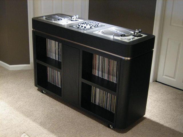 dj scotty mac console my style taste dj table vinyl record storage dj booth