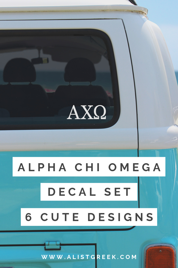 Alpha Chi Omega Sticker Set A List Greek Designs Sorority Big Little Sorority Alpha Sigma Alpha