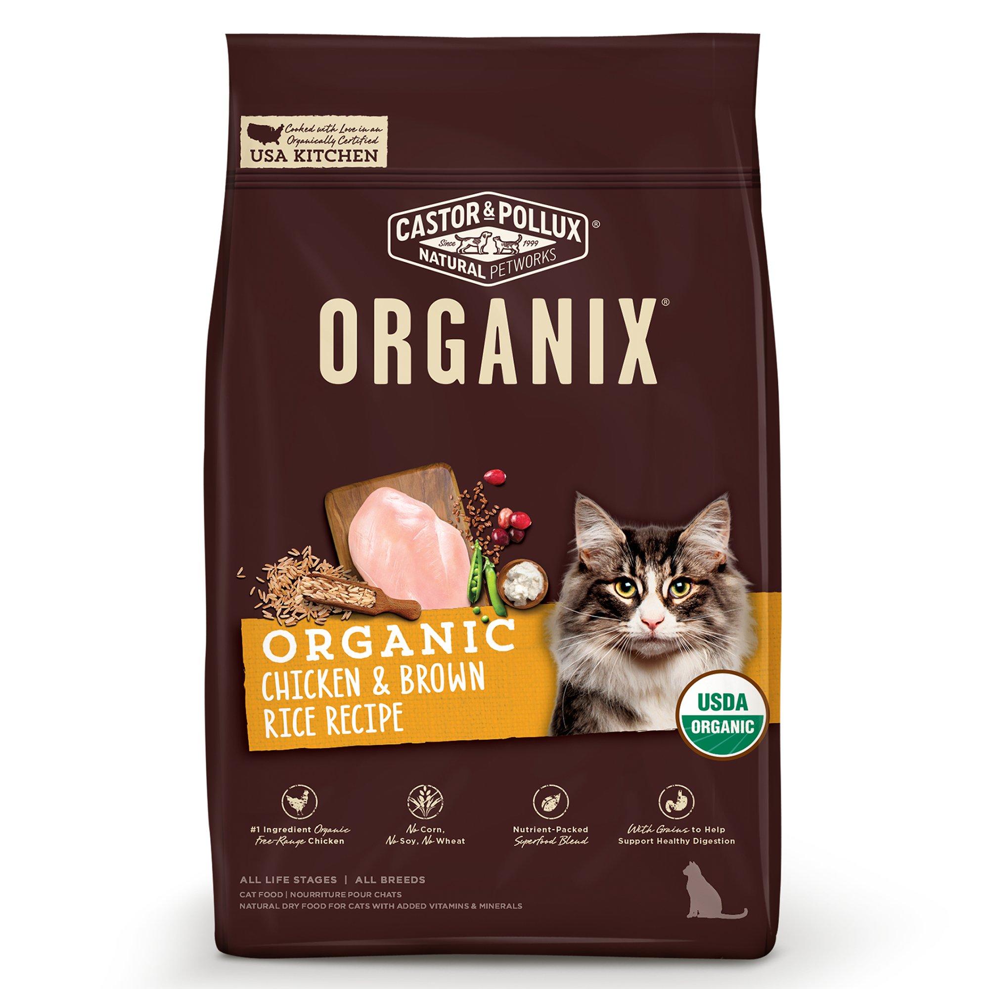 Castor Pollux Organix Chicken Brown Rice Recipe Cat Dry Food