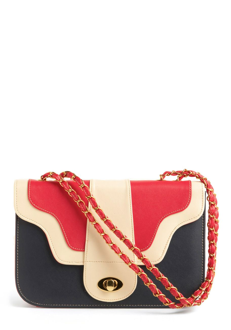 Adorable red/white/blue bag