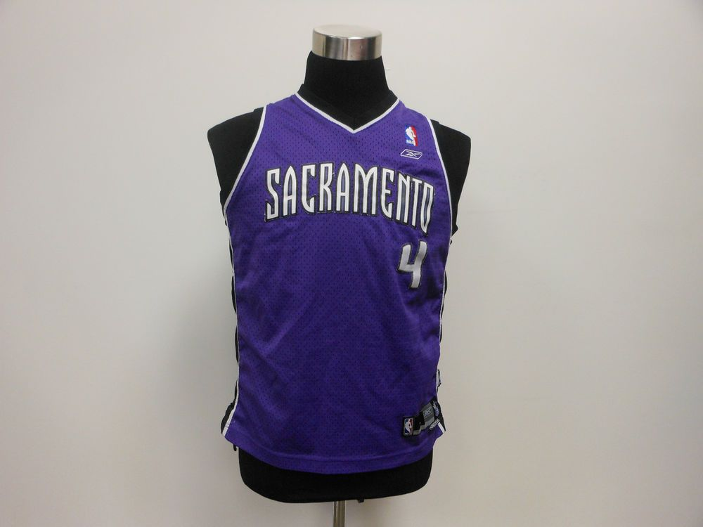 7fc15bebb Vtg Reebok Sacramento Kings Chris Webber Basketball Jersey 4 Youth L Large  SEWN  Reebok  SacramentoKings  tcpkickz
