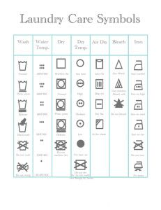 Laundry Care Symbols Free Printable Laundry Care Symbols