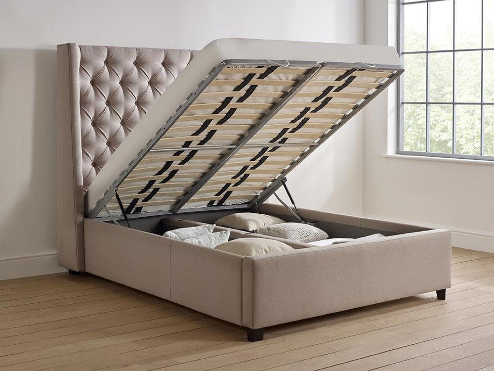 Elise Tall Storage Bed Storage Bed Upholstered Storage Diy