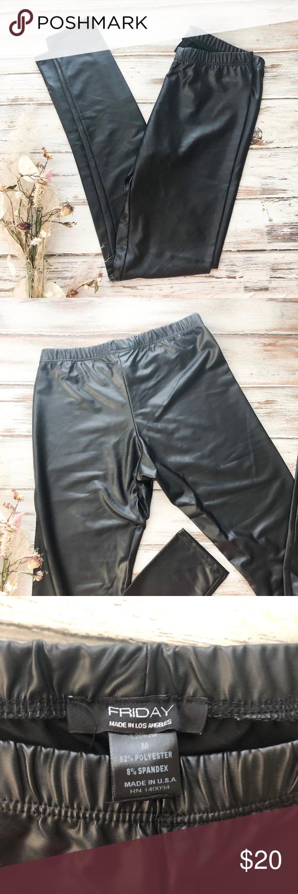 NWOT Vegan Leather Leggings