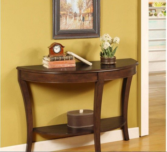 Wall Hugger Sofa Table Modern Half Round Wooden Bent Wood Furniture Foyer Style #Frenchi #Modern