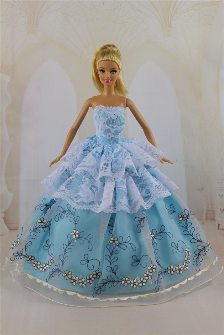 Blue Royalty Mermaid Dress Party Dress//Clothes//Gown For 11.5in.Doll S517