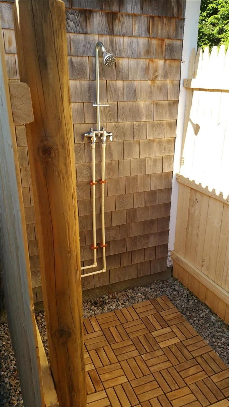 Great Idea For An Outdoor Shower Floor Outdoor Showers Cape Cod