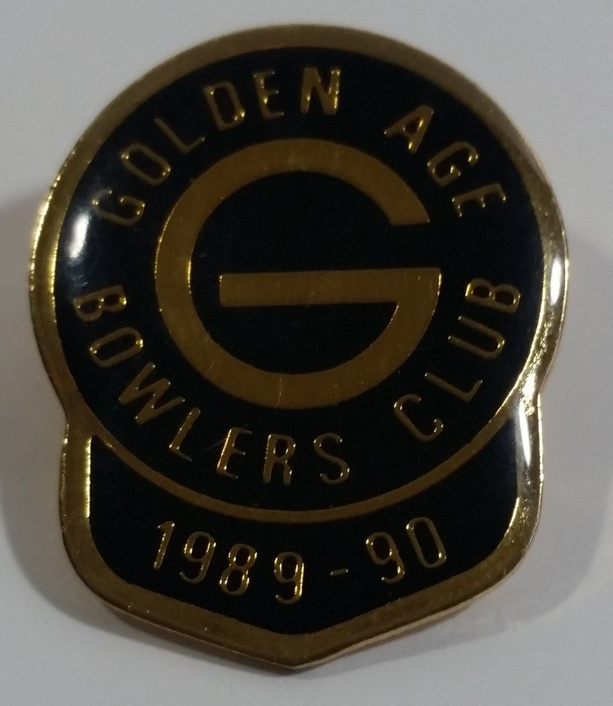 1989-90 Golden Age Bowlers Club Bowling Award Metal Lapel ...