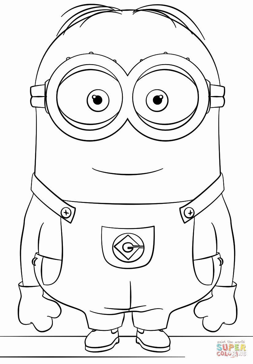 Printable Minions Coloring Pages Inspirational Minion Dave Coloring Page Minion Coloring Pages Minions Coloring Pages Minion Drawing