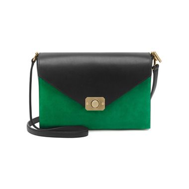1ae07461d370 Mulberry - Delphie in Jungle Green   Midnight Blue Heavy Suede With Black  Flat Calf Leather