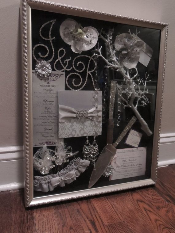 Wedding Shadow Box Things I Love Wedding Wedding Keepsakes