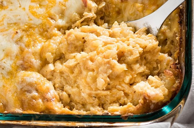 Cheesy Chicken Tater Tot Casserole - The Salty Marshmallow ...
