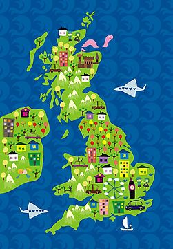 Image result for cartoon map of uk