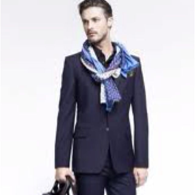 The perfect touch to customizing your style - gentlemen wear a scarf now n then!