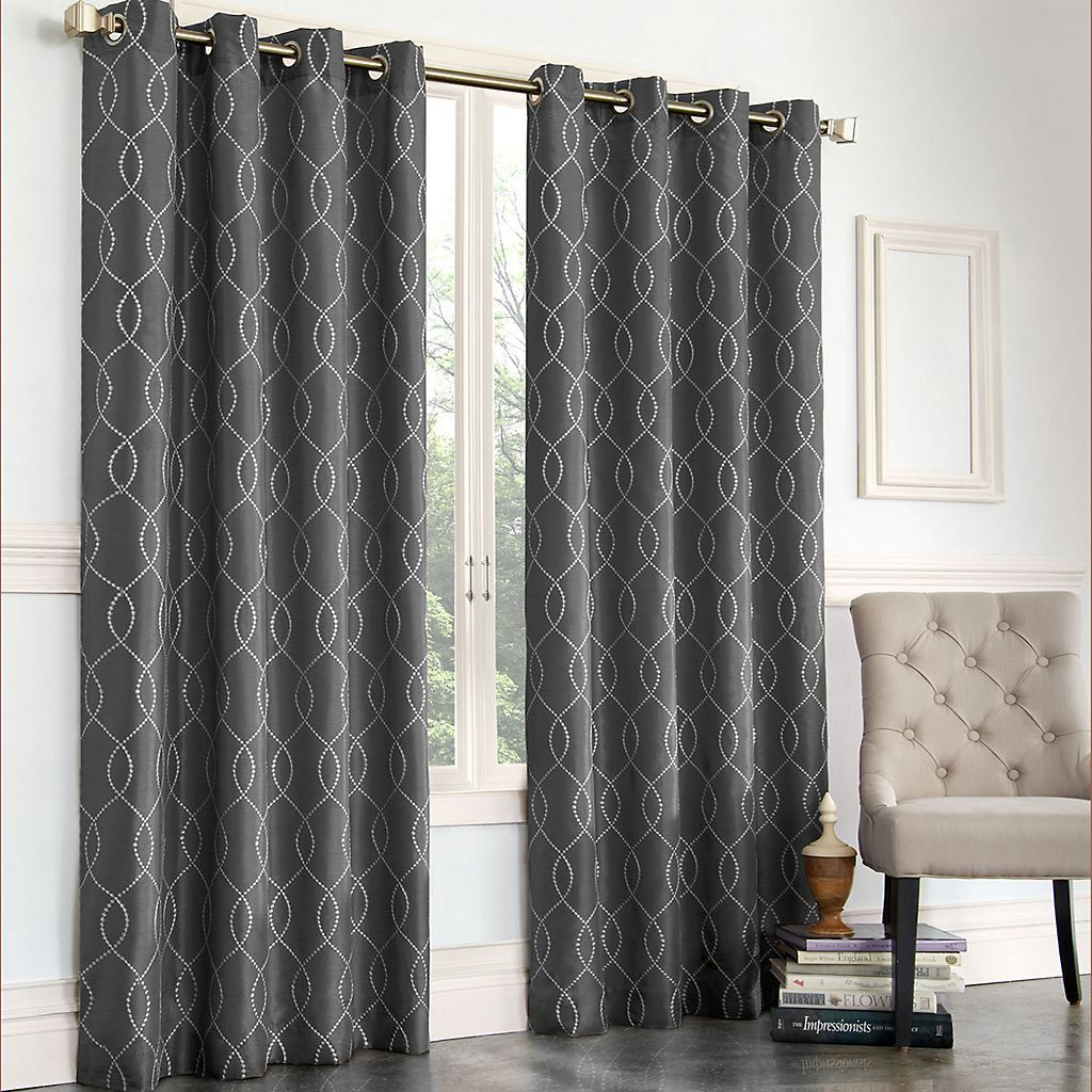 Gramercy embroidered fauxsilk curtain living room pinterest