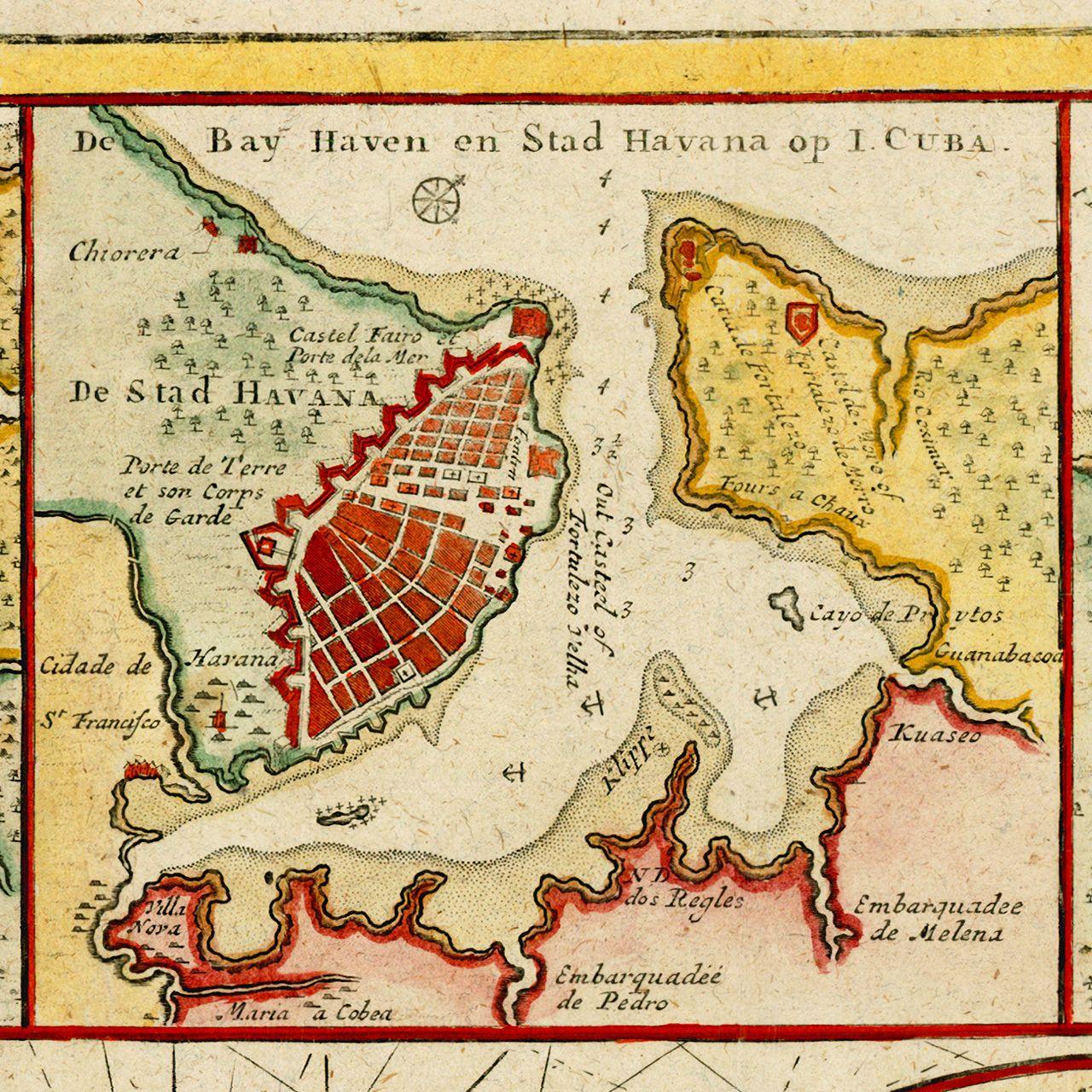 Cuba florida bahamas 1720s van keulen battlemaps old maps cuba florida bahamas 1720s van keulen battlemaps gumiabroncs Image collections