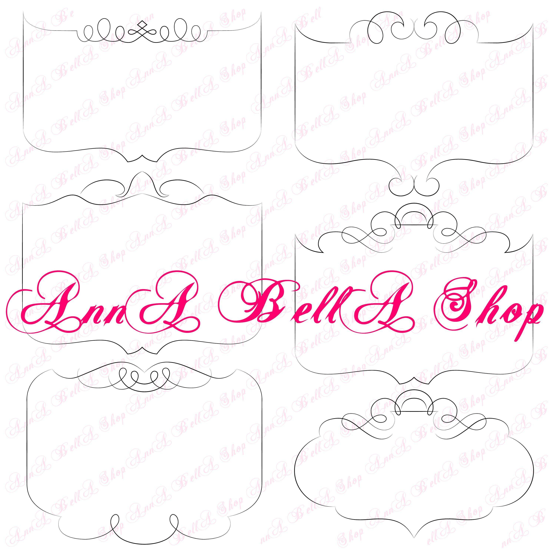 Label frames clipart, digital clipart, clip art, Label ...