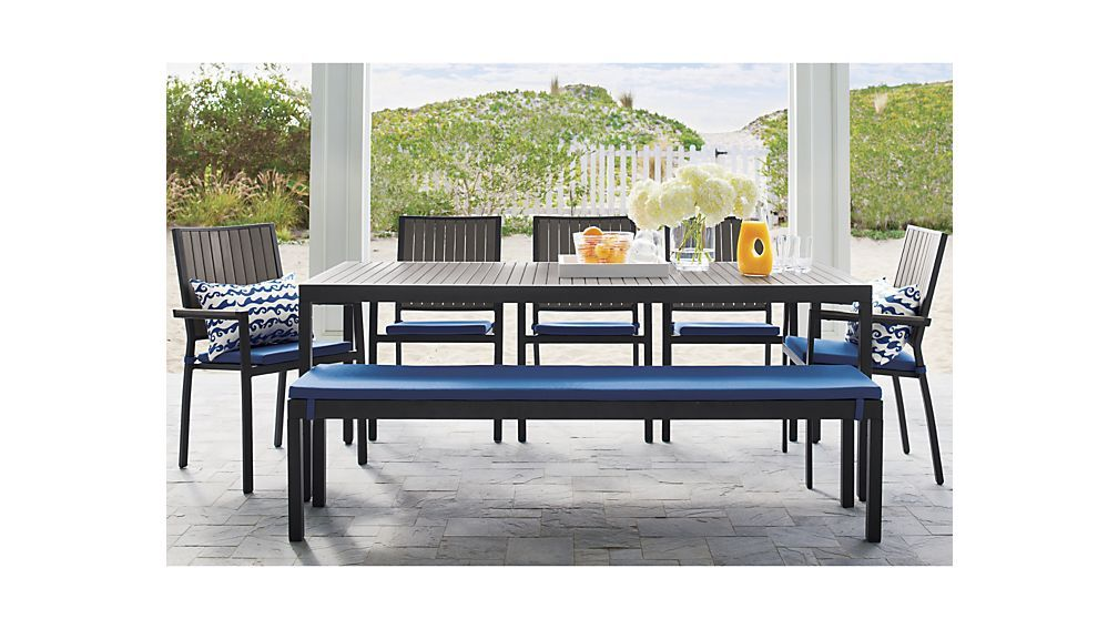 Awesome Alfresco Grey Rectangular Dining Table Crate And Barrel Gray