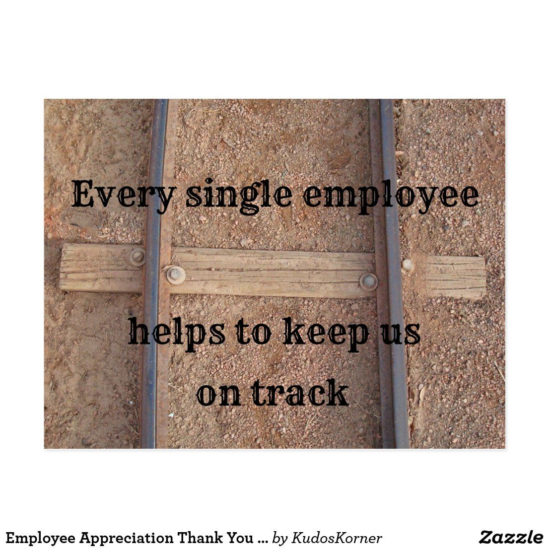 Employee Appreciation Thank You Business Railroad Postcard | Zazzle.com