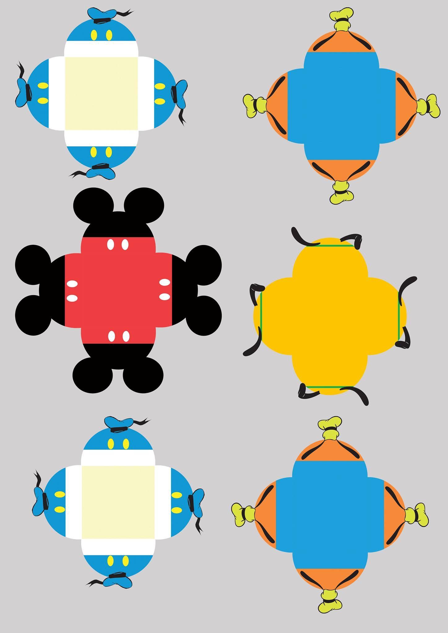 Forminhas Docinhos Mickey e sua Turma   Mickey mouse   Pinterest ...