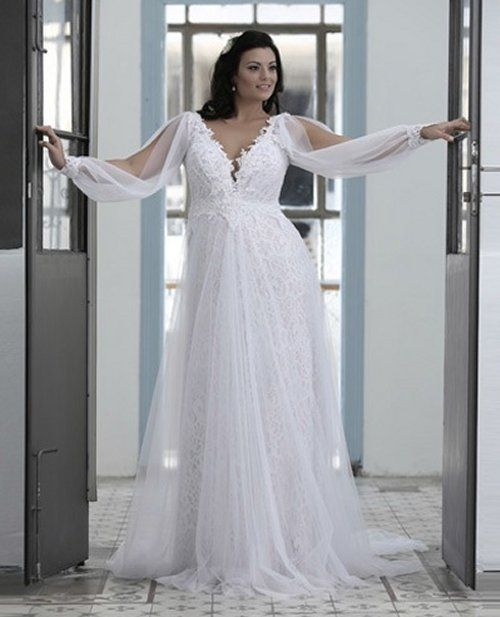 prettiest 8 plus size summer wedding dresses: sexy plus size long