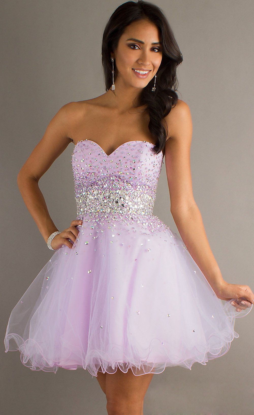Light Purple Short Prom Dress