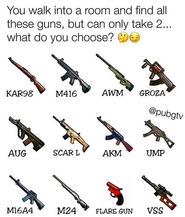 Awm And M416 Would Br Best As Per Me Aman Lol Funny Gaming