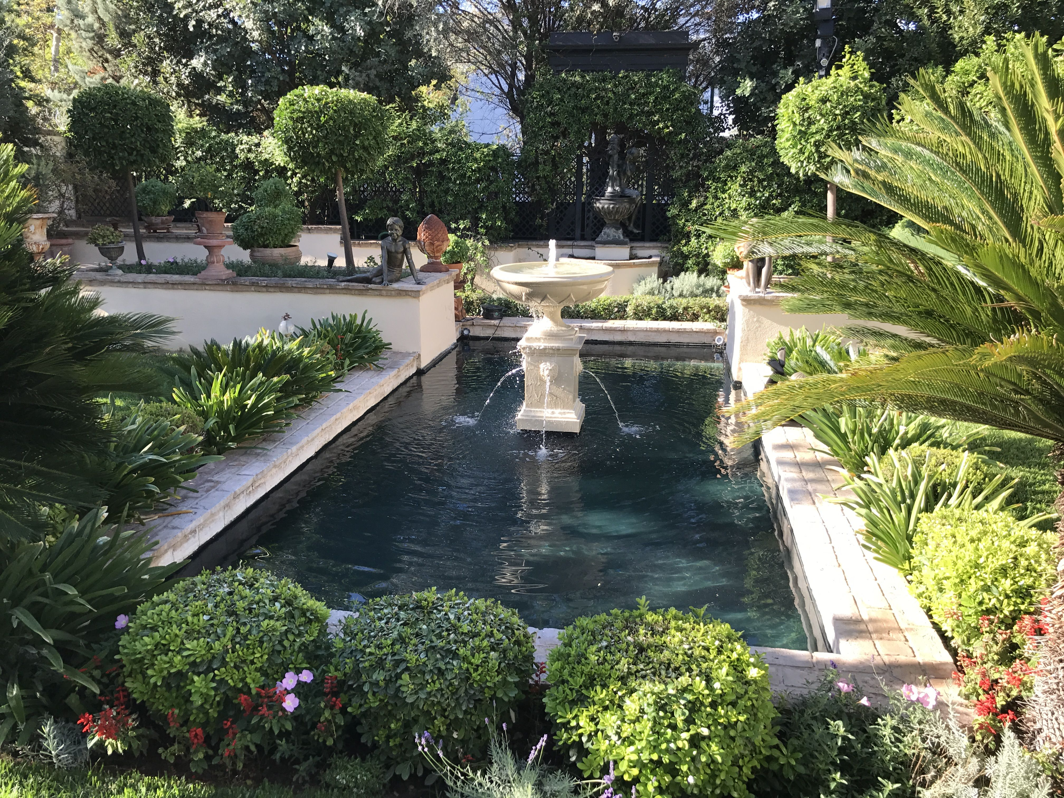 Garden water features  A truly spectacular water garden waterfeatures fountains