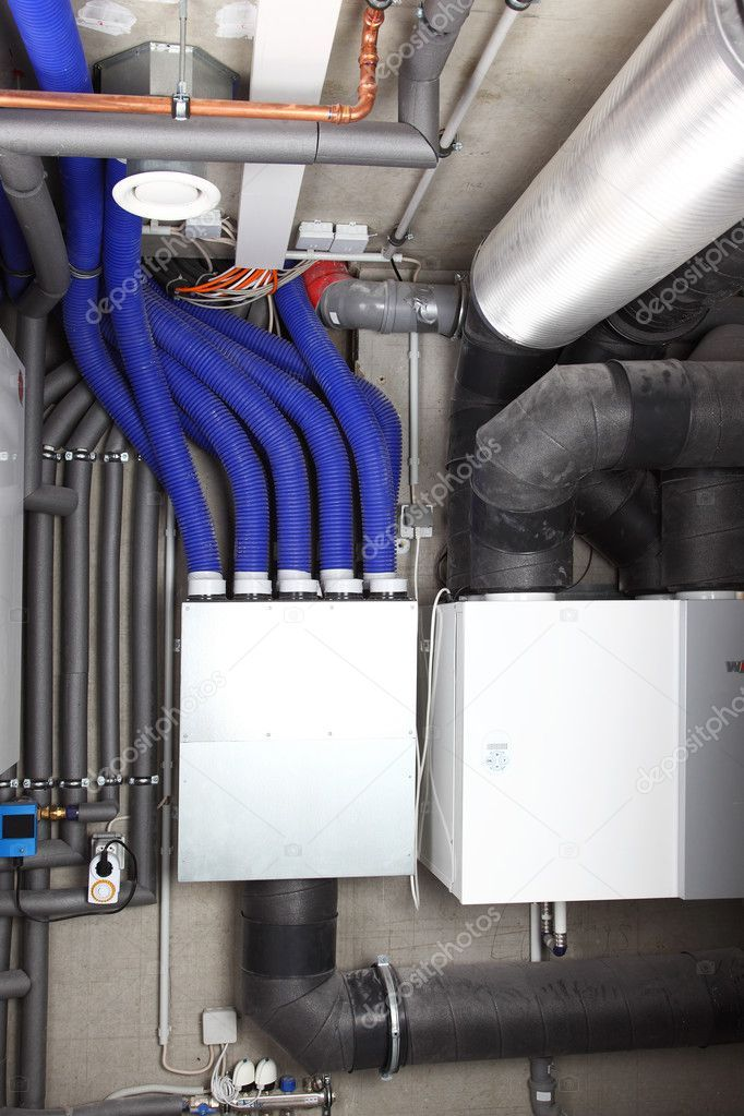 Air ventilation and heating system Stock Photo ,