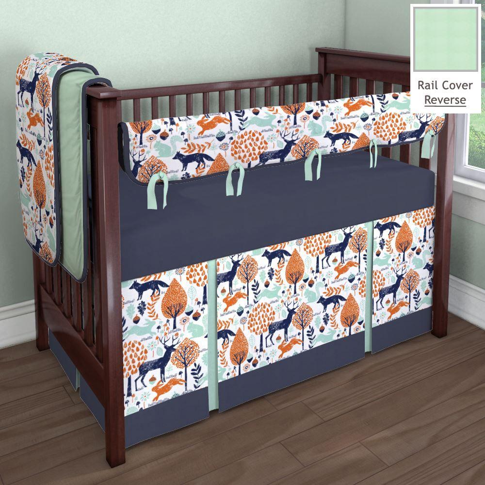 Navy and Orange Woodland Animal Nursery Idea