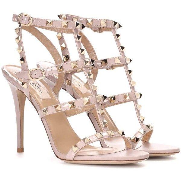 c329d1dbf703 Valentino Valentino Garavani Rockstud Patent Leather Sandals (1 330 AUD) ❤  liked on Polyvore