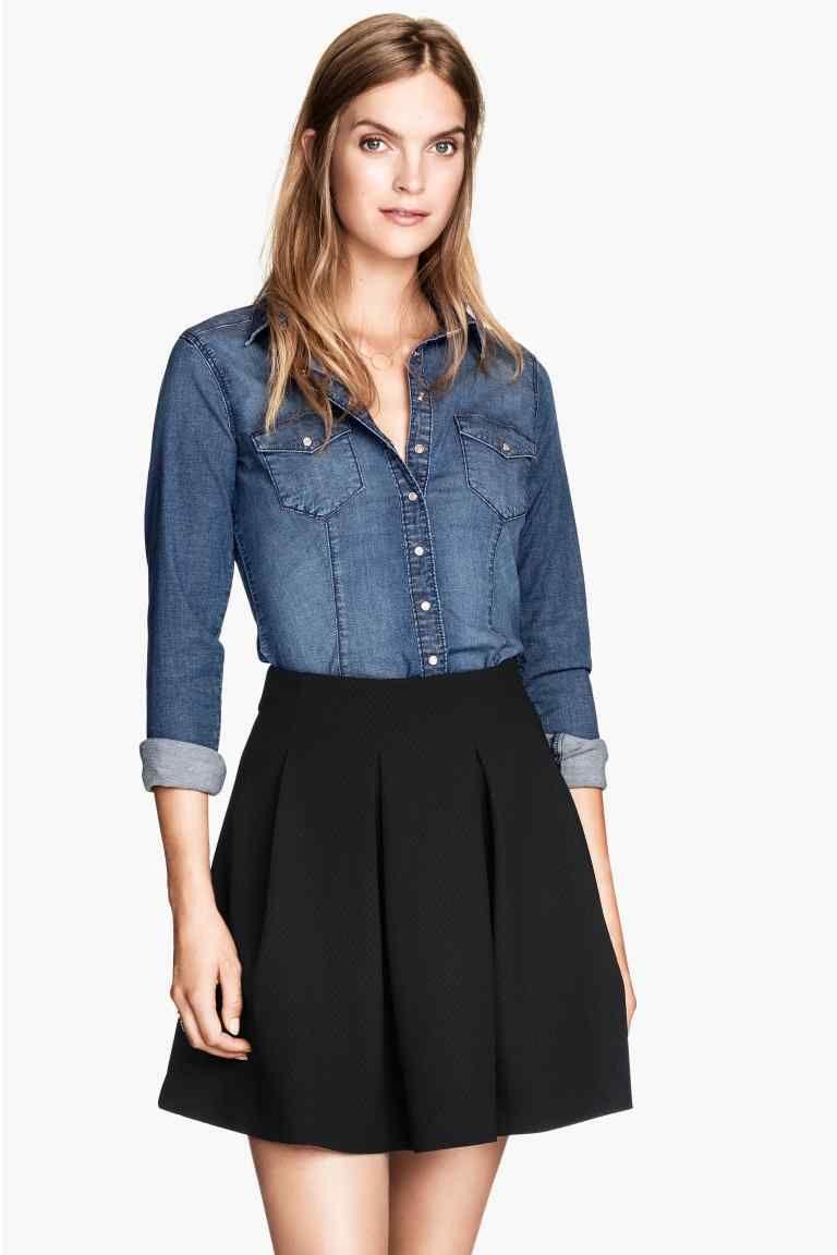 9312997f15 Camicia jeans   H&M   Fashionable nel 2019   Jeans, Donna e Blu