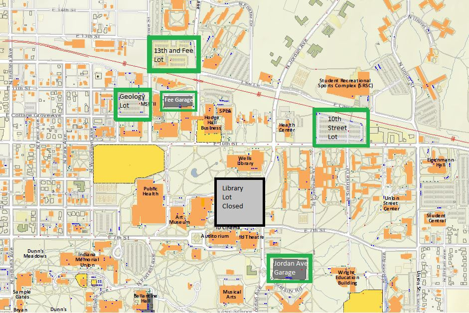 Indiana University Parking Map