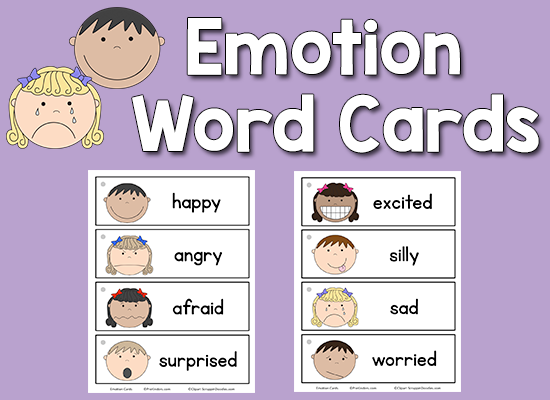 Emotion Word Cards | Emotion words, Emotions cards, Emotions preschool