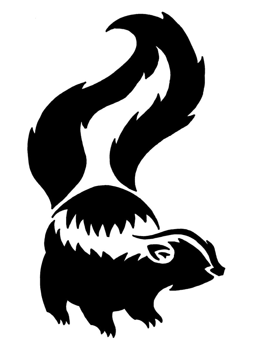 Skunk Woodland Creatures Silhouette Clip Art Paper