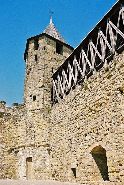 la Tour de Justice du château comtal de Carcassonne. Languedoc-Roussillon