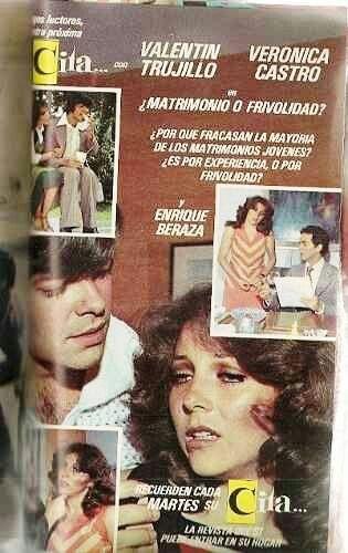Fotonovela Cita: Con Valentin Trujillo U0026 Veronica Castro. Ese Era Mi  Favorito!